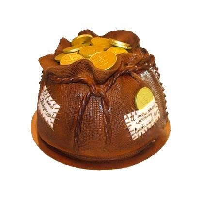 Торт Мішечок з золотом